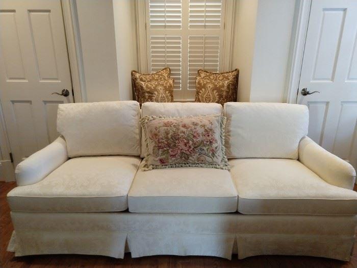 Pristine white couch, by Hickory Chair.