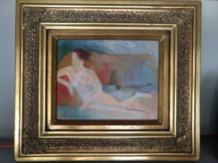 One of a pair of female nudes, by Atlanta artist, Helen DeRamos.