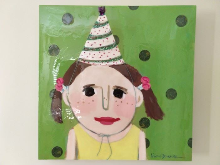 """Birthday Girl"", original art, by AL artist Lila Graves."