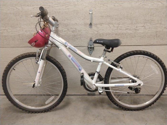 "Vintage 24"" Columbia ""Trailhead"" aluminum frame mountain bike, Shimano brakes."