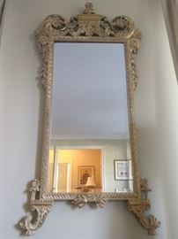 Wonderful John Richard wall mirror, with beveled glass.