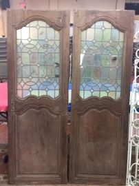 Pr. Antique Stained Glass Doors