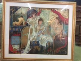 Mucha Art Nouveau Giclee on Canvas