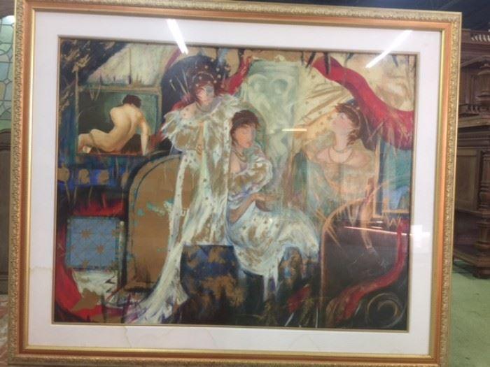 Mucha Art Nouveau Giclee on Canvas