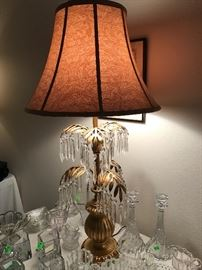 MCM Palm Tree Lamp with crystals