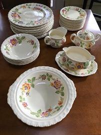 """Hand painted Grindley """"Eversley"""" dinnerware"""