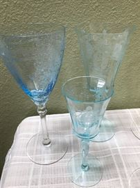 Beautiful etched glass ware...