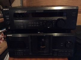 Sony stereo receiver and dvd player