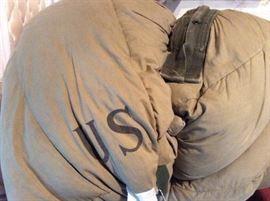 Old army down sleeping bag