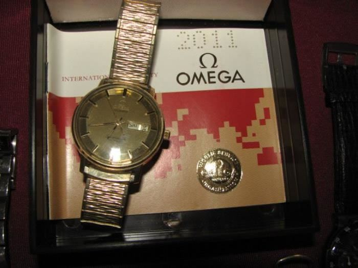 Omega Seamaster gold watch