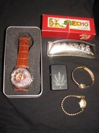 Lighter, Harmonica, ladies' gold watches