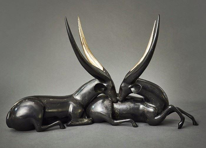 """Loet Vanderveen, bronze, """"Bushbucks"""""""