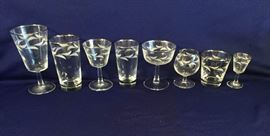 Vintage Silver Rimmed French Glasses 53 Pc https://ctbids.com/#!/description/share/86961