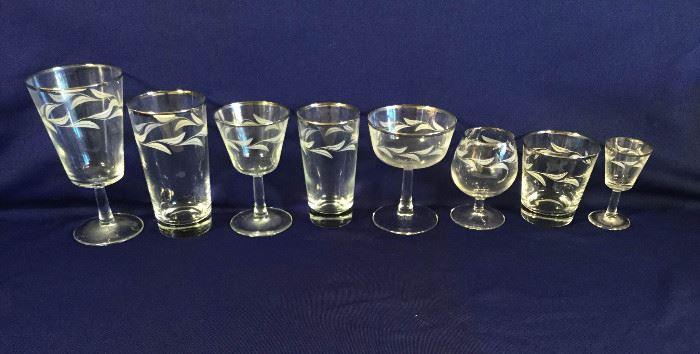 Vintage Silver Rimmed French Glasses 53 Pc https://ctbids.com/#!/description/share/86961