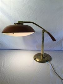 Vintage Mid Century Saucer Desk Lamp by Laurel Lamp Company       https://ctbids.com/#!/description/share/86888