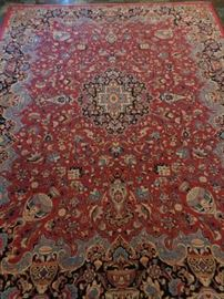 Vintage room sized Persian hand knotted rug