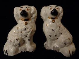 Pair Beswick England Staffordshire spaniel dog figurines