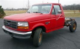 1995 Ford F-250 XL Pickup Truck, Power Stroke Diesel, 70,344 Miles, VIN # 1FDHF25F5SEA63073