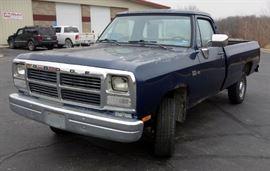 1993 Dodge W150 Pickup Pickup Truck, Odometer Reads 124,821, VIN # 1B7HM16Y9PS268019