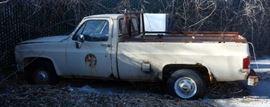1984 Chevrolet C20 Pickup Truck, VIN # 1GCGC24W8ES133892, Big Block 454 V-8