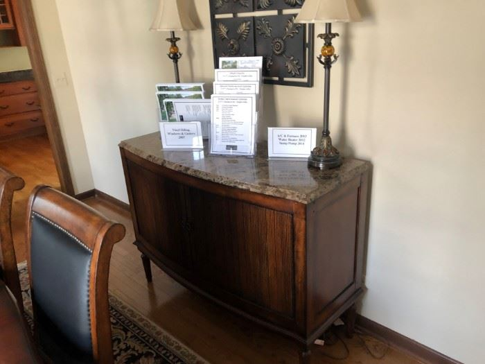 Raylen Vineyards Buffet with Marble Top