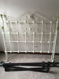 Heavy White Iron Bed Frame