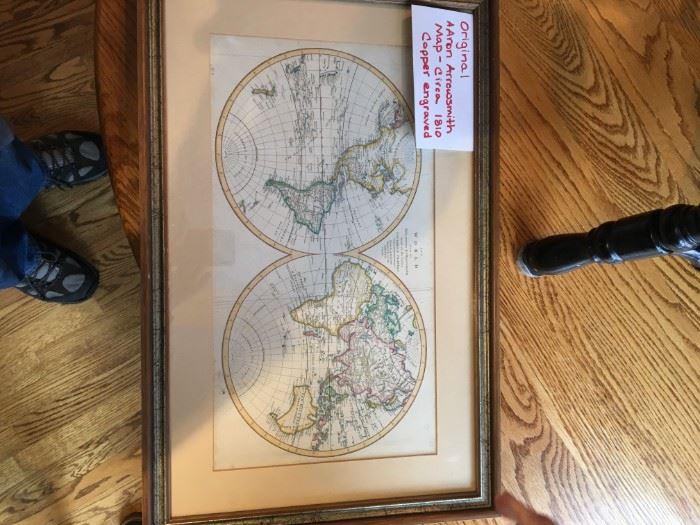 Circa 1810 Copper Engraved Aaron Arrowsmith Map