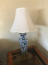 One of two matching lamps, lovely shades