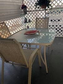 Patio table and 4 chairs 55.00