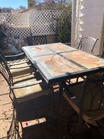 patio table and 6 chairs 75.00