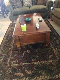 rug 45.00 Coffee table 55.00