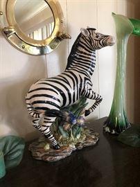 beautiful porcelain zebra 75.00