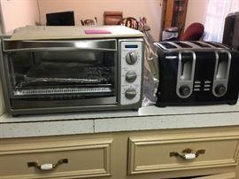 Toaster Oven & 4 slice toaster