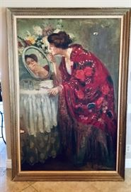 Original oil painting on canvas. 8 feet tall by 4 feet wide.