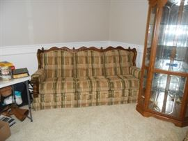Very nice - great shape sofa and corner cabinet