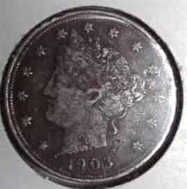 1903 Liberty Nickel, XF Detail
