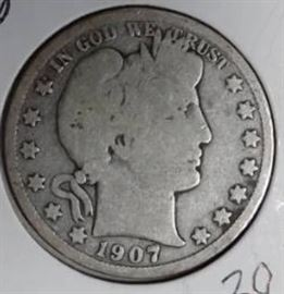 1907 O Barber Half Dollar, VG Details.0..