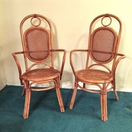 Rattan arm chairs
