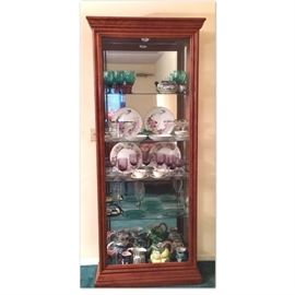 Mirror and glass curio cabinet