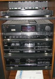 Stereo system with Fisher speakers