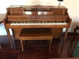 Estey Piano with Bench and Music