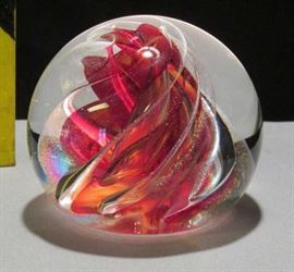 1997 Brian Lonsway Signed Glass Paperweight Lot # 315