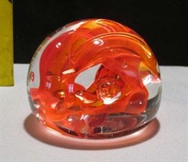 1996 Brian Lonsway Signed Glass Paperweight Lot # 317