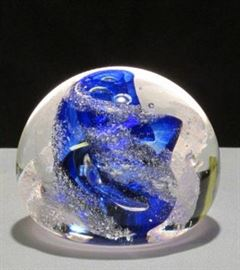 1996 Brian Lonsway Signed Glass Paperweight Lot # 320