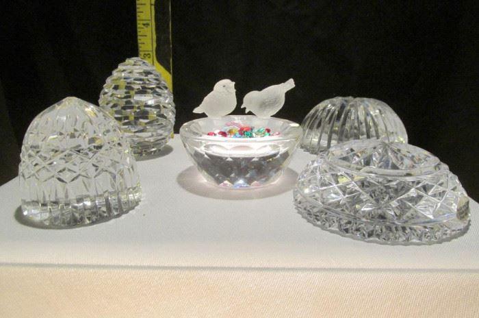 Swarovski Silver Crystal Bird Bath & Assorted Crystal Lot # 326
