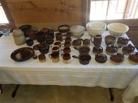 More pottery including Roseville