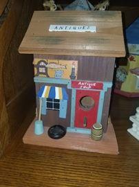 Antique shop birdhouse