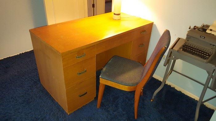 Mid Century Blonde Desk