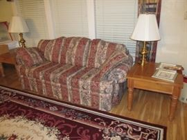 Broyhill sofa and loveseat; Broyhill end tables