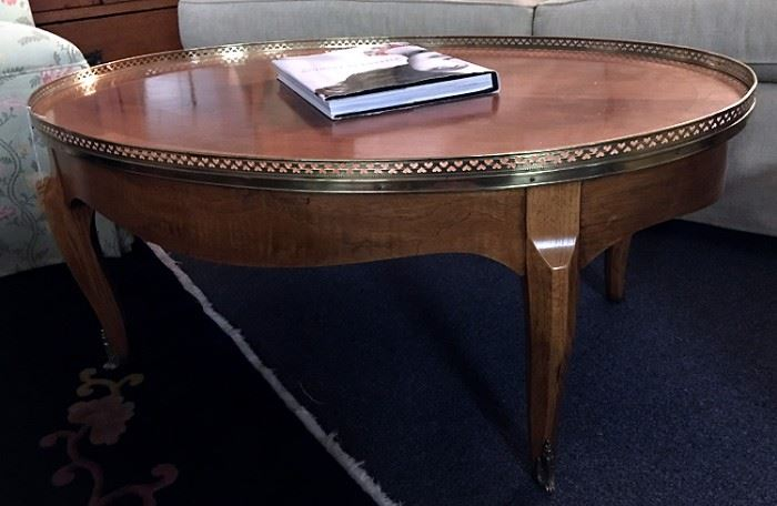 Baker Furniture Oval Coffee Table